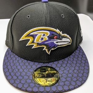 New Era Baltimore Ravens Fitted Sz 7 On Field Hat